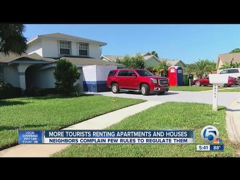 More tourists renting apartments and houses