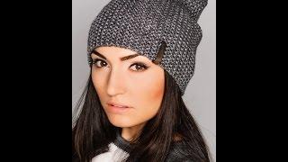 Шапка бини♥Женская шапка+мастер класс+полное описание♥Вязаная шапка бини спицами