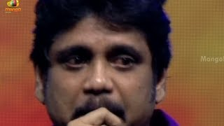 Nagarjuna cries @ Manam audio launch - Nagarjuna emotional speech - Samantha,  ANR, Naga Chaitanya