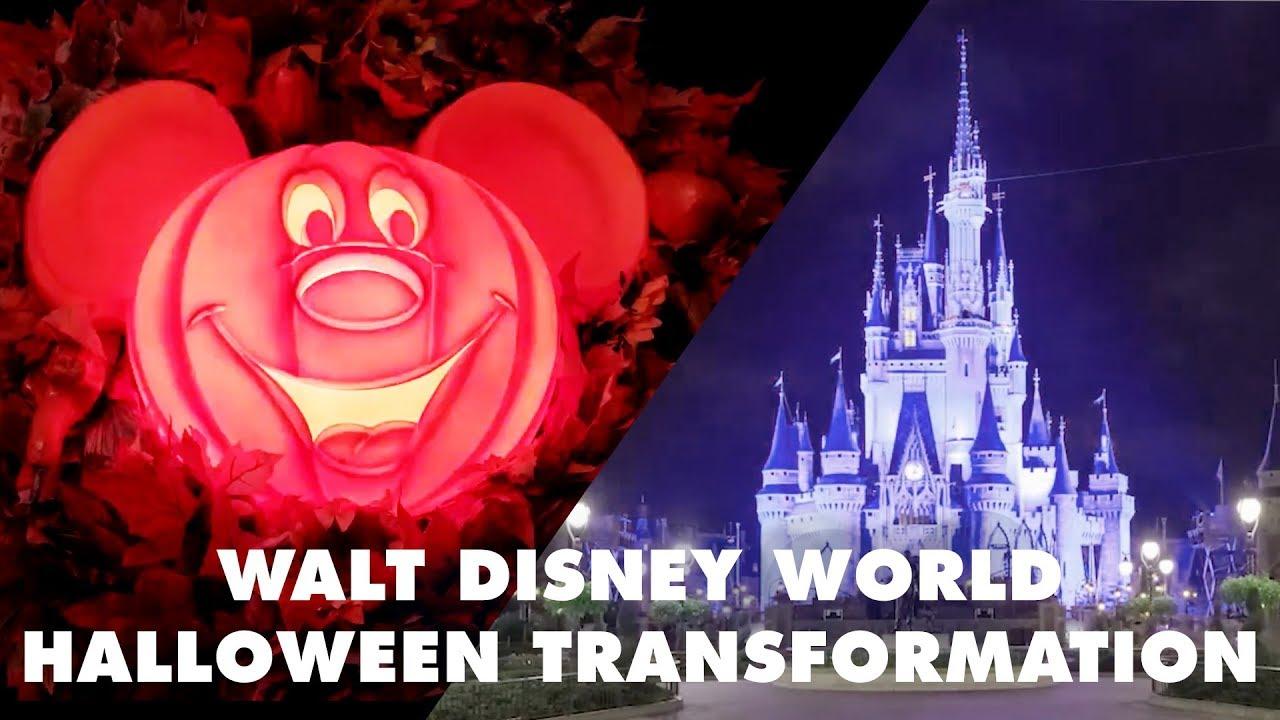 Walt Disney World Halloween Transformation   Disney - YouTube