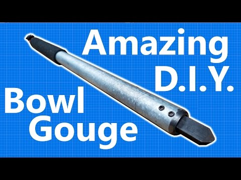 Make the cheapest, fastest woodturning gouge EVER.