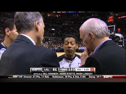 BigLeadSports - NBA referee Billy Kennedy stalling for commercial