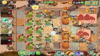 Plants vs Zombies 2: Ancient Egypt Day 27 Walkthrough