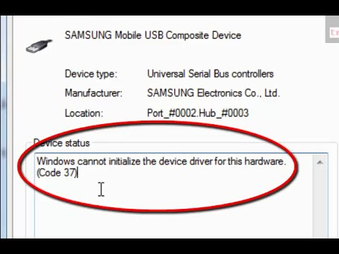 the drivers for this device are not installed. (code 28) android