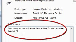 how to fix 'Windows cannot initialize the device driver for this hardware' (Code 37) in Windows 7