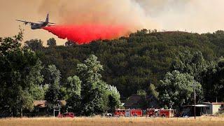 Zwei Feuer in Nordkalifornien nun größter Waldbrand des Staates