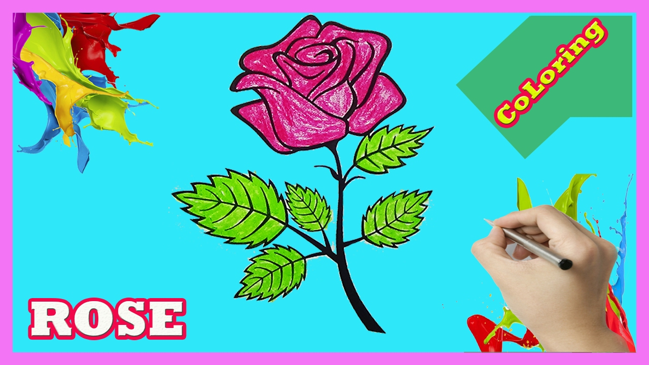 Rose Coloring pages Learn Color for Kids - YouTube