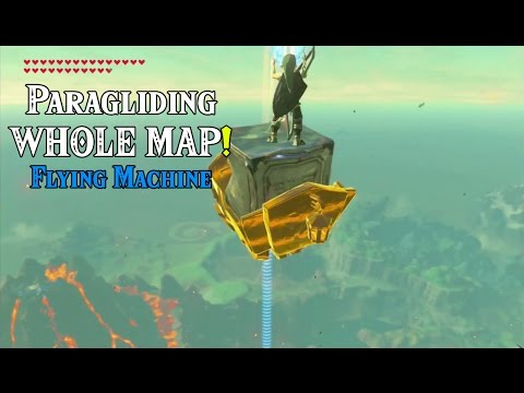 Paragliding WHOLE MAP! Flying Machine in Zelda: Breath of the Wild