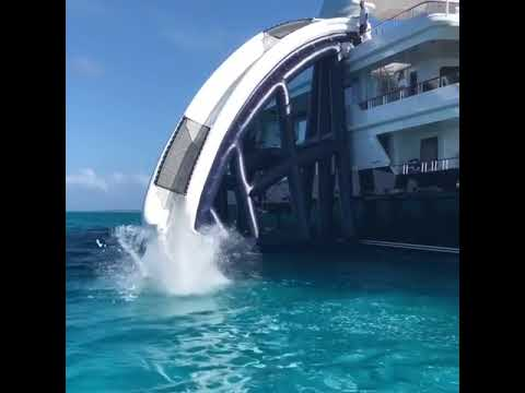 Greg Great White Shark Norman On A FunAir Yacht Slide In The Bahamas YouTube