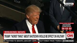 Trump: If a shutdown happens, it will be worst for our military