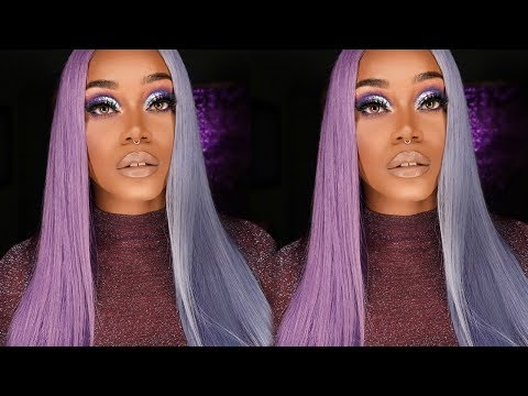 Changing the hair dying game in 2018 | Split Hair Dying | Blue & Purple Hair | SLAYQUEENHAIR