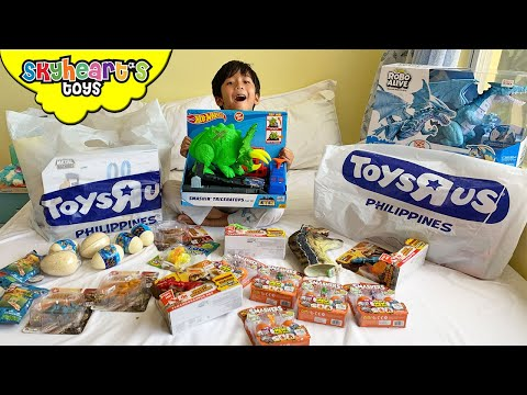 DINOSAURS From Toys R Us!! Skyheart's New Dinosaur Toys For Kids Trex Mighty Megasaur