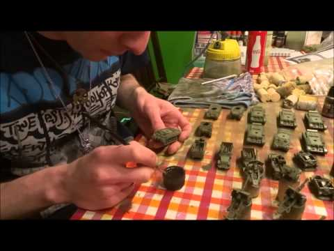 Tutorial: How to paint a Flames of War Army in one day!