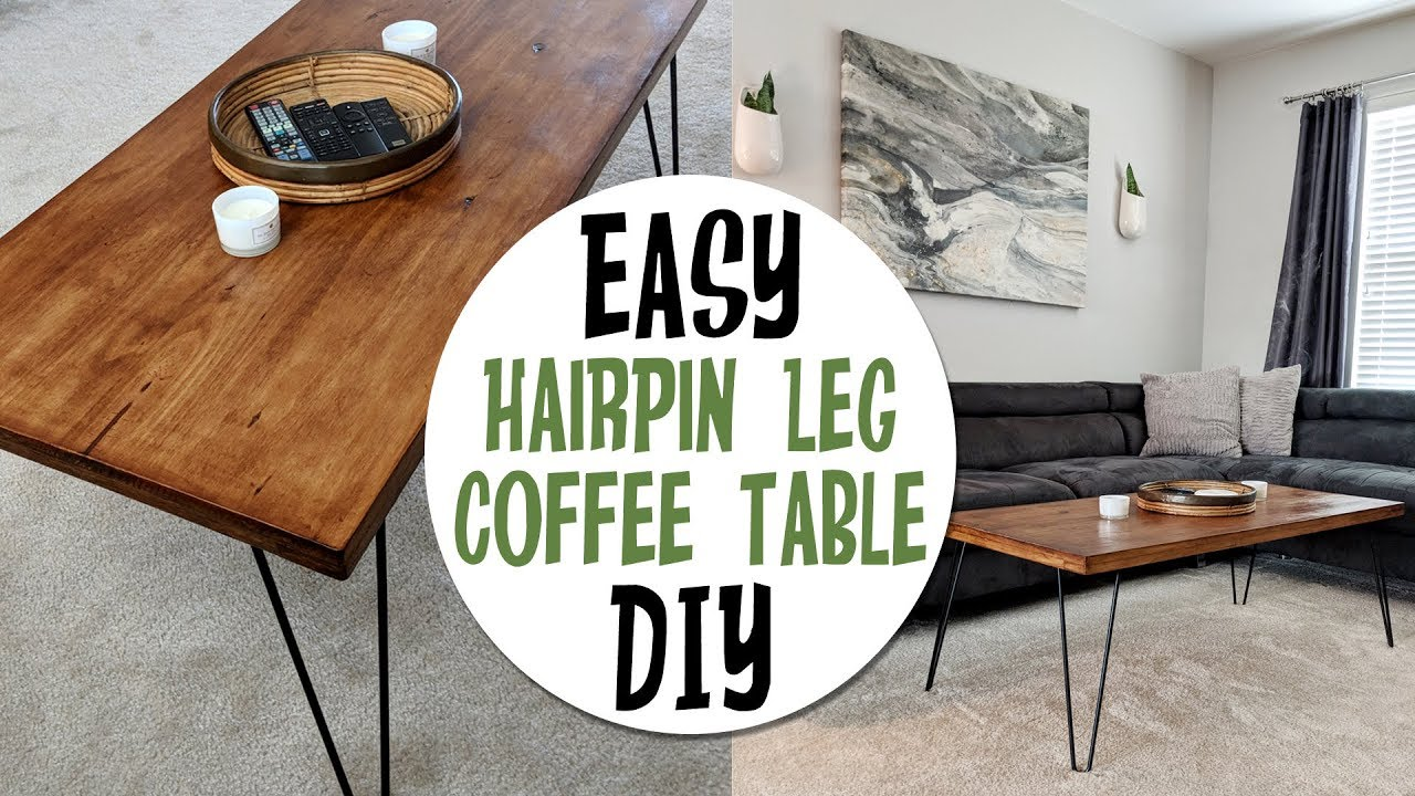 Diy Retro Inspired Hair Pin Leg Coffee Table How I Made It Youtube