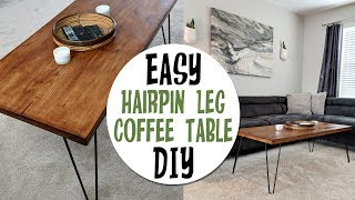 DIY Retro Inspired Hair Pin Leg Coffee Table+How I Made it!