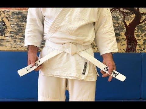 Как завязывать пояс на кимоно/кейкоги? 1-й вариант плоский узел
