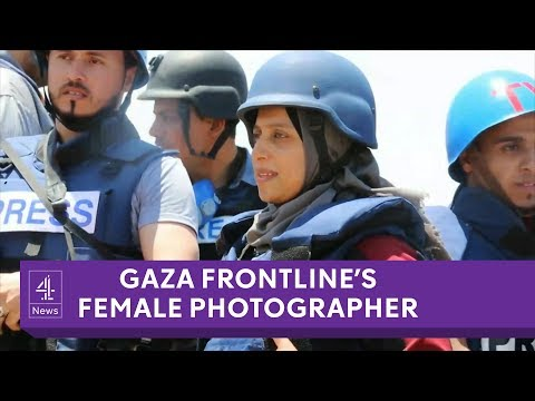 The only woman photojournalist on the Gaza frontline