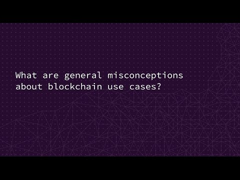 What are general misconceptions about blockchain use cases?