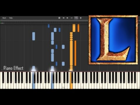 League of Legends Champion Selection Draft Mode (Piano Tutorial Synthesia)