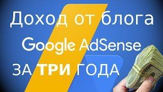 доход с САЙТА  Сколько я ЗАРАБОТАЛ на БЛОГЕ с Google AdSense за 3 года!