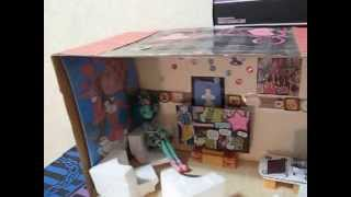 Куклы Монстер Хай и домик(Как сделать домик для кукол., 2014-11-09T16:27:51.000Z)