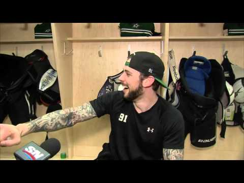 Gotta See It: Seguin gets beaned by ball of tape during interview