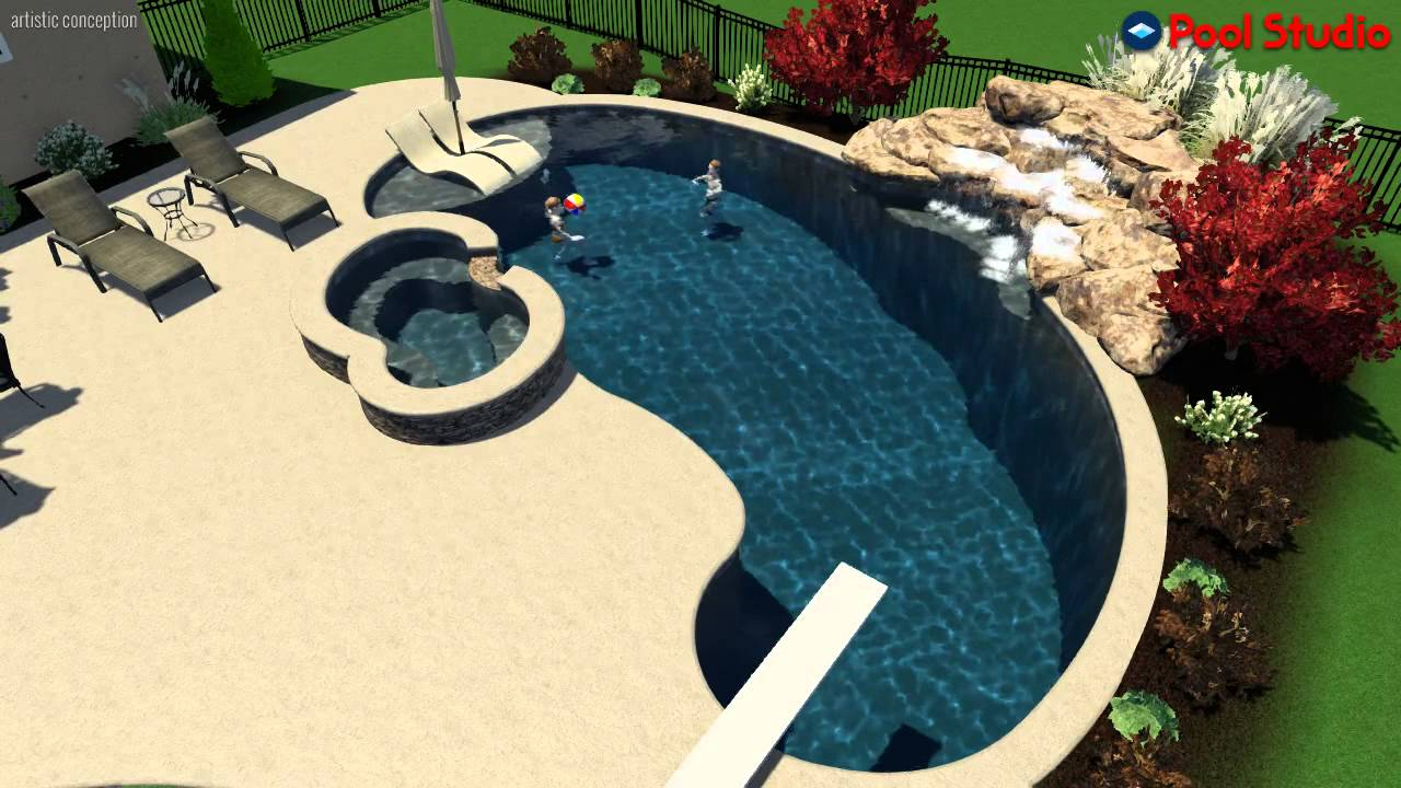 Kidney Shaped Salt Water Pool With Raised Spa In Northampton Pa Designed By Monogram Custom Pools Youtube