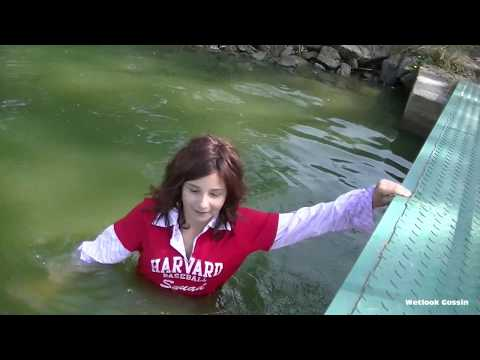Eliska at the pond