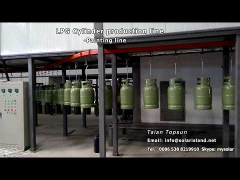 LPG cylinder electrostatic painting production line