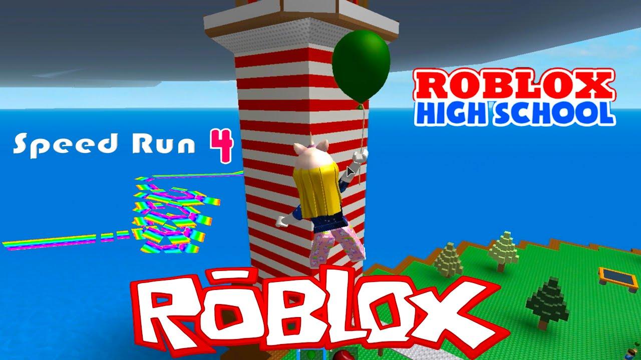 Roblox High School Speed Run Natural Disaster Survival Adventures