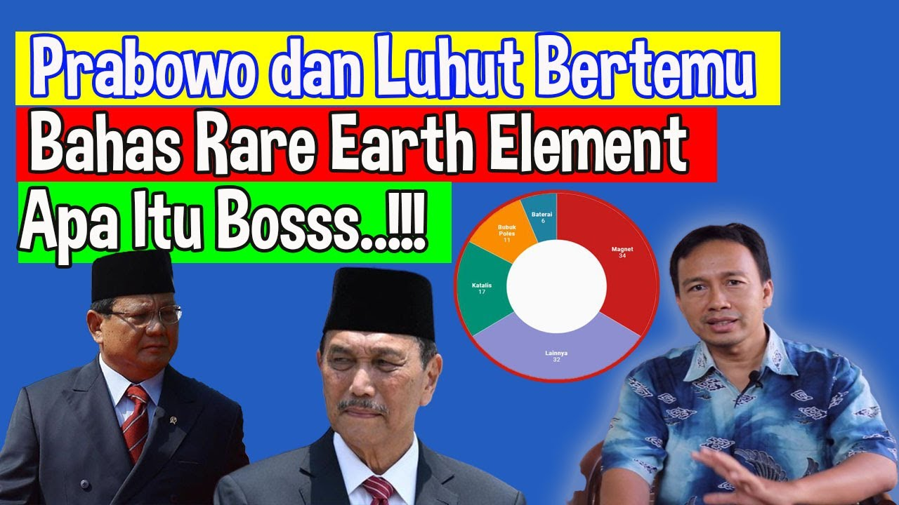Prabowo dan Luhut bertemu bahas Rare Earth Element, Apa itu REE ?