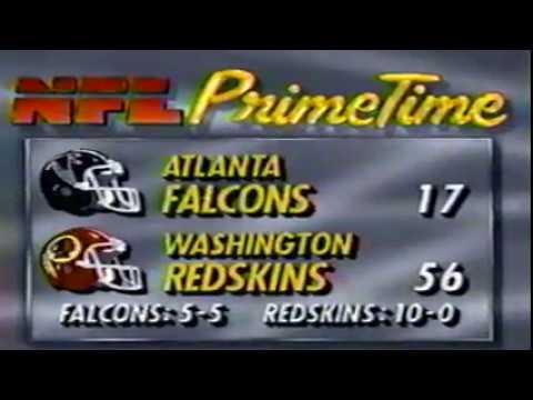 NFL Primetime - Falcons @ Redskins -11/10/1991 - YouTube