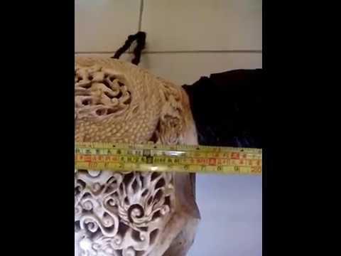 Dragon VS Eaggle Water Buffalo Skull Carving
