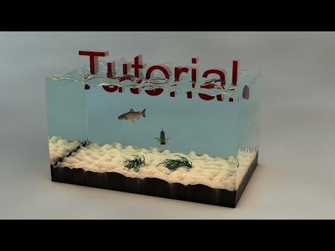 Cinema 4D Tutorial - Aquarium (Wasser Effekt) OHNE Plug-Ins