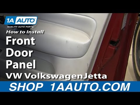 How To Remove Front Door Panel 00-05 VW Jetta