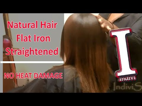 How To Straighten Natural Hair No Heat Damage Curly