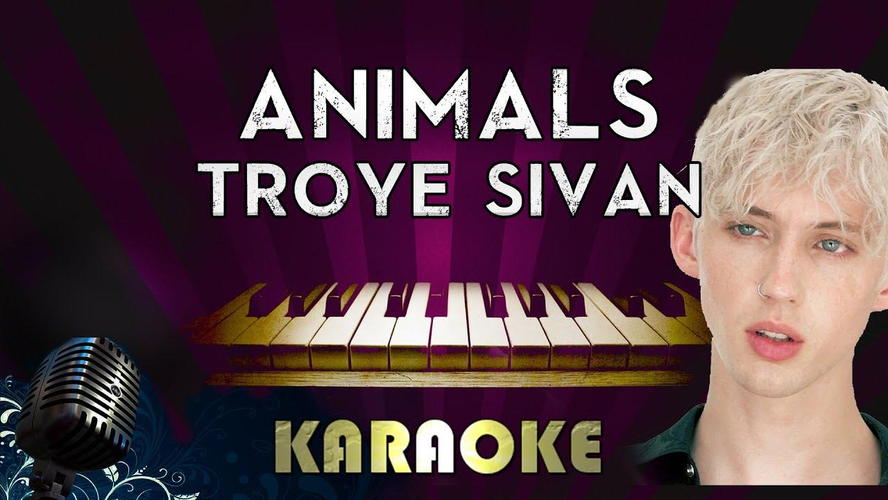 Troye Sivan - Animal | HIGHER Key Piano Karaoke Instrumental Lyrics Cover Sing Along