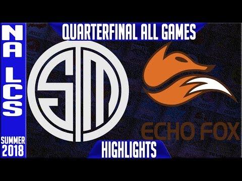 TSM vs FOX Highlights ALL GAMES | NA LCS Playoffs Quarter-final Summer 2018 Team Solomid s Echo Fox