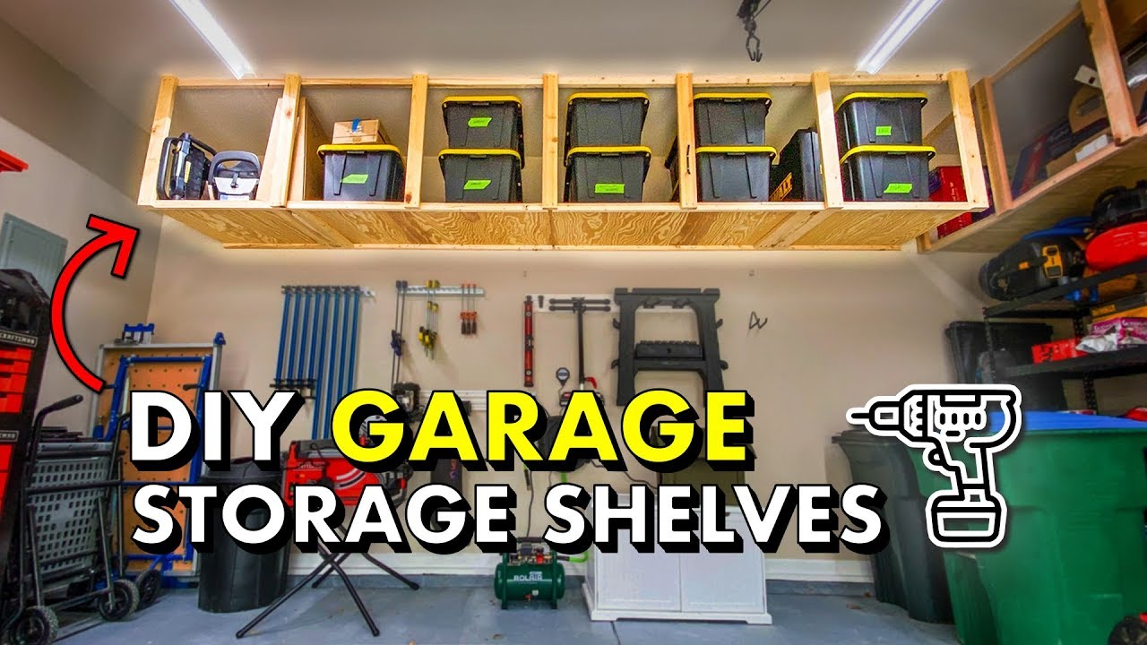 Reclaim Your Garage W Diy Garage Storage Shelves Free Plans Youtube