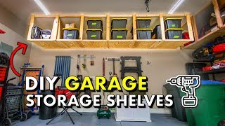 Reclaim your GARAGE w/ DIY Garage Storage Shelves 🚘 FREE PLANS!
