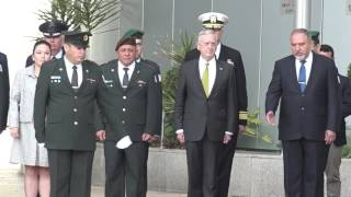 Secretary of Defense  Mattis at the Ministry of Defense and IDF headquarters , April 21, 2017