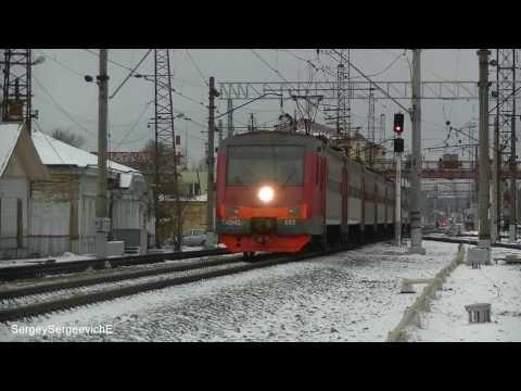 Электропоезд ЭМ2-032 станция Серпухов