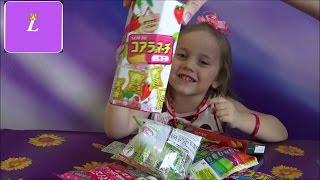 Открываем японские сладости. Конфеты-ЛИЗУНЫ We open the Japanese sweets.