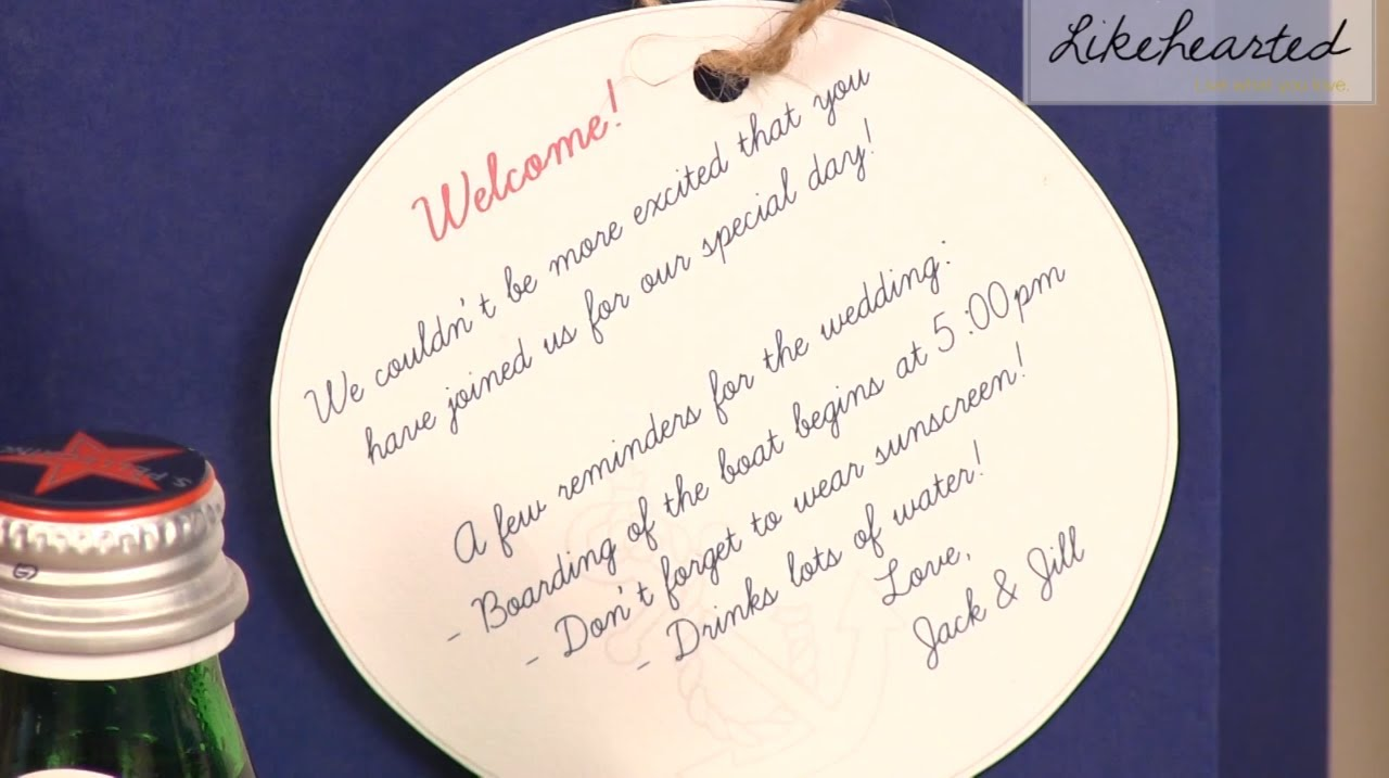 Summer Wedding DIY: Destination Wedding Welcome Bags - YouTube