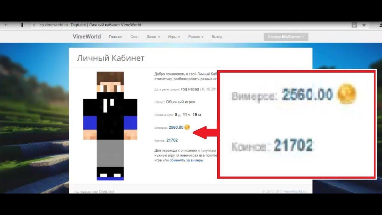 сколько стоит админка в майнкрафт vimeworld #1