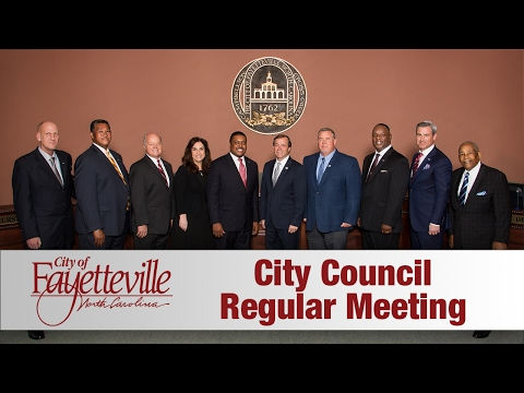 Fayetteville City Council Meeting   Feb 13 2017