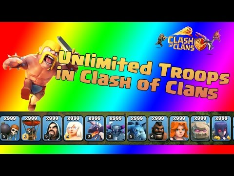 UNLIMITED TROOPS IN CLASH OF CLANS!   How to attack with Unlimited Troops  