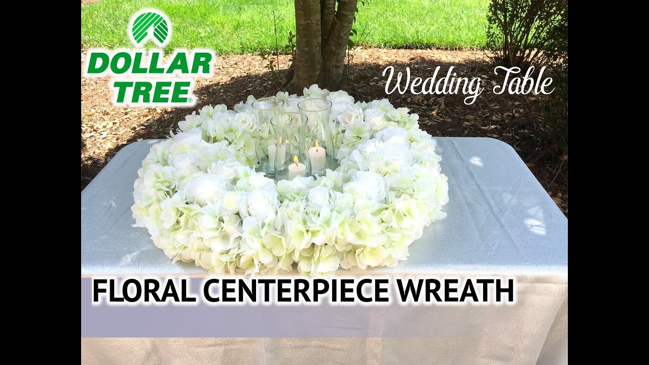 Dollar Tree Diy Wedding Table Wreath Candlelight Centerpiece