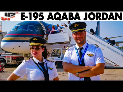 Piloting Embraer 195 out of Aqaba Jordan | Cockpit Views