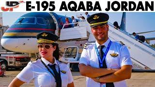 Piloting Embraer 195 out of Aqaba Jordan | Cockpit Views